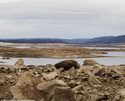 California Drought Folsom Lake via DailyMail