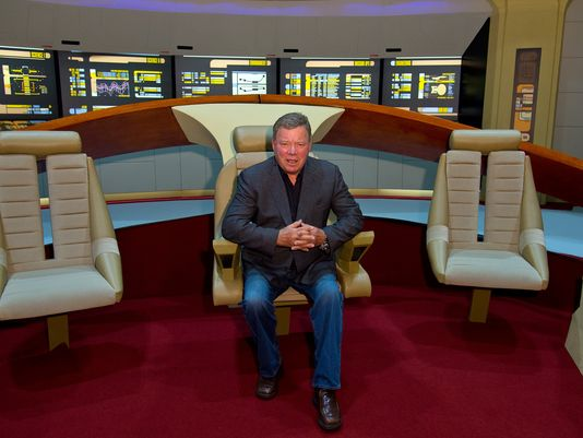 William Shatner poses for photographs during the Destination Star Trek event at ExCel on October 3, 2014 in London, England. (Photo: Ben A. Pruchnie, Getty Images)