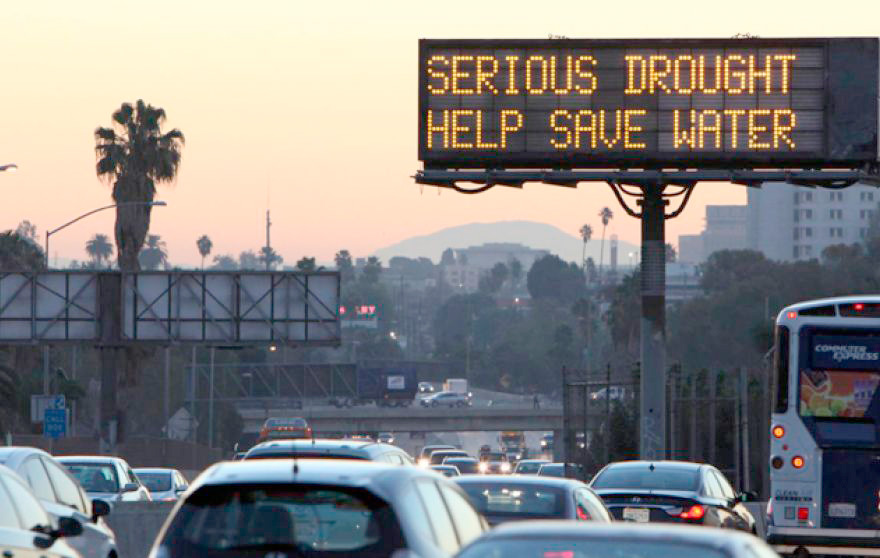 Amid the worst drought on record, Californians are being forced to make drastic cuts in usage. (AP)